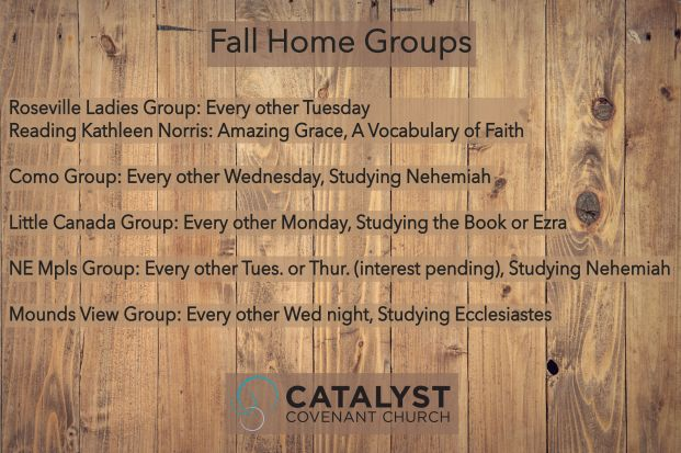 Fall Home Groups
